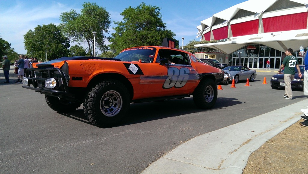 The Agent Orange car showed up for autocross.